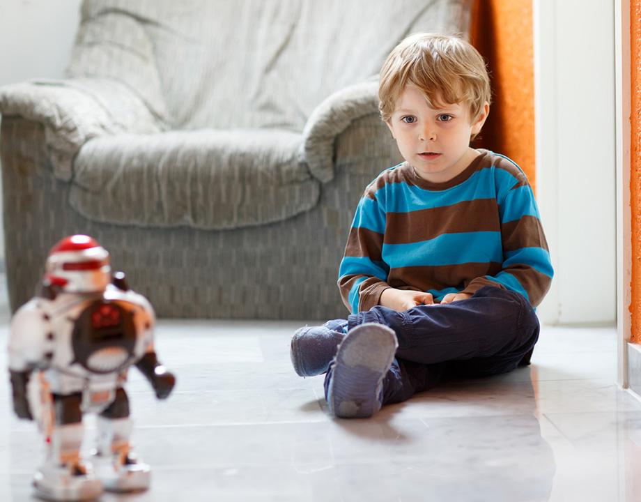 robots niños
