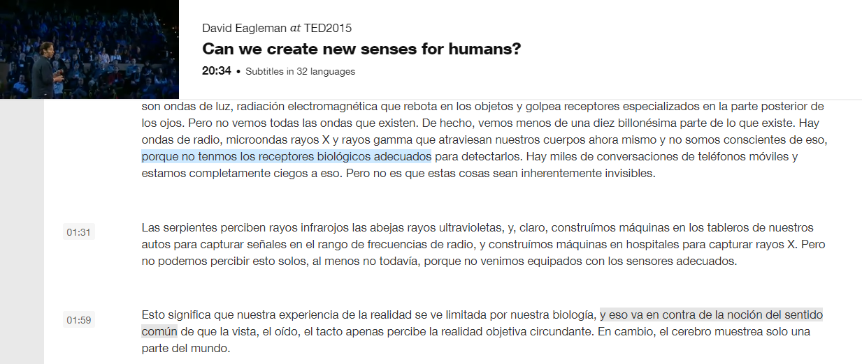 can we create new senses - conferencia David Eagleman