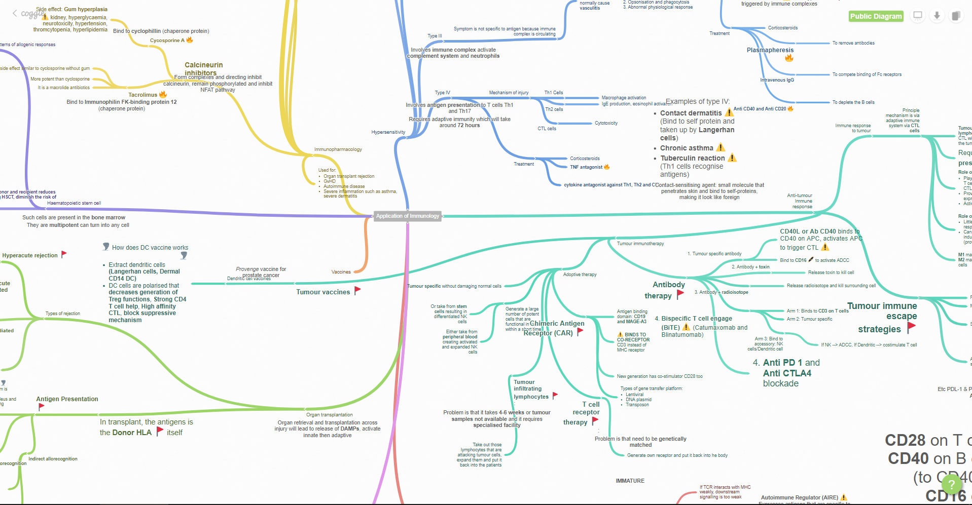 mapa mental virtual conceptual herramienta coggle