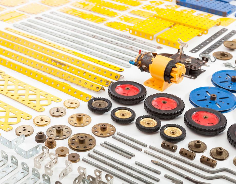 mecano meccano tecnología piezas