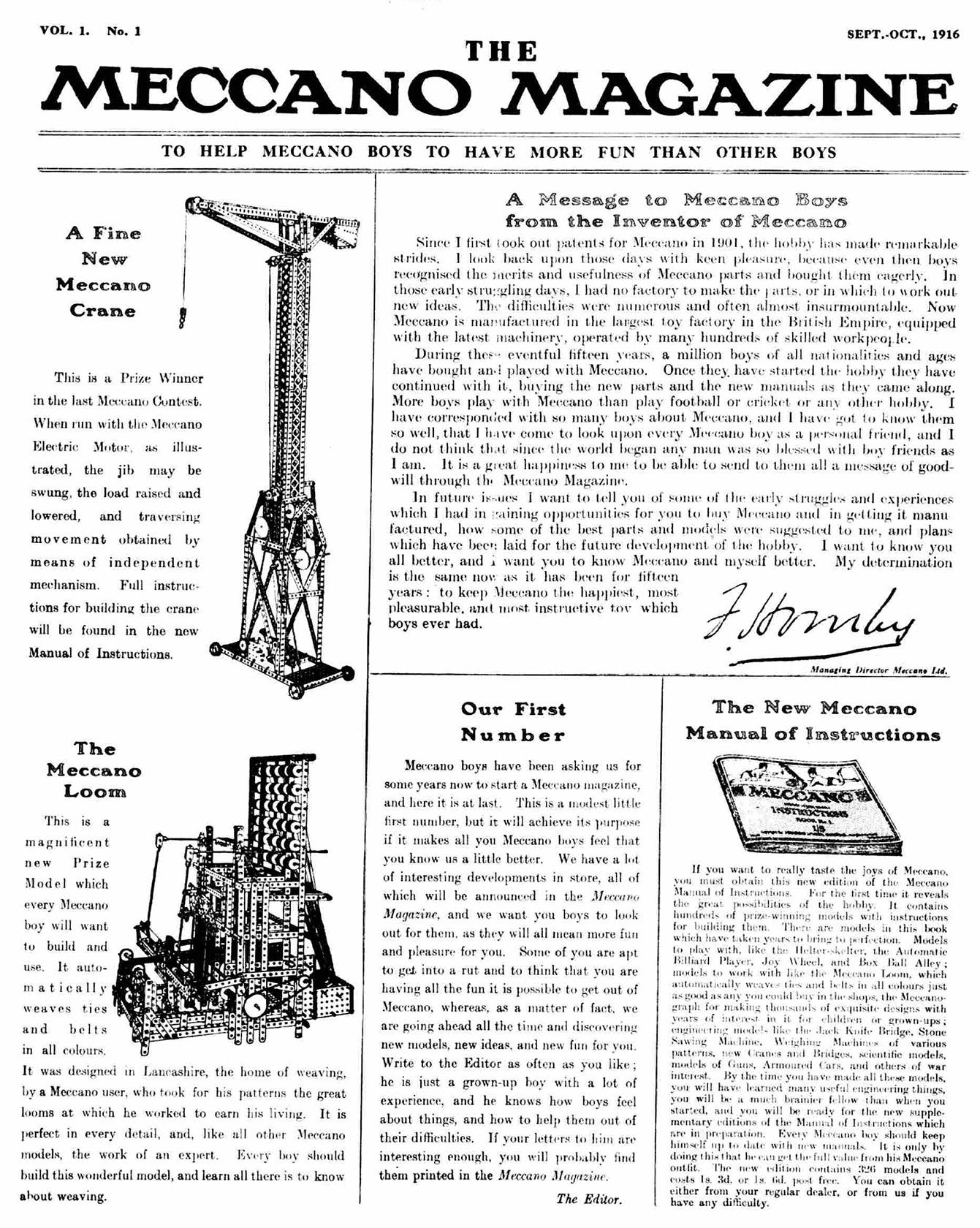 revista mecano meccano 1917