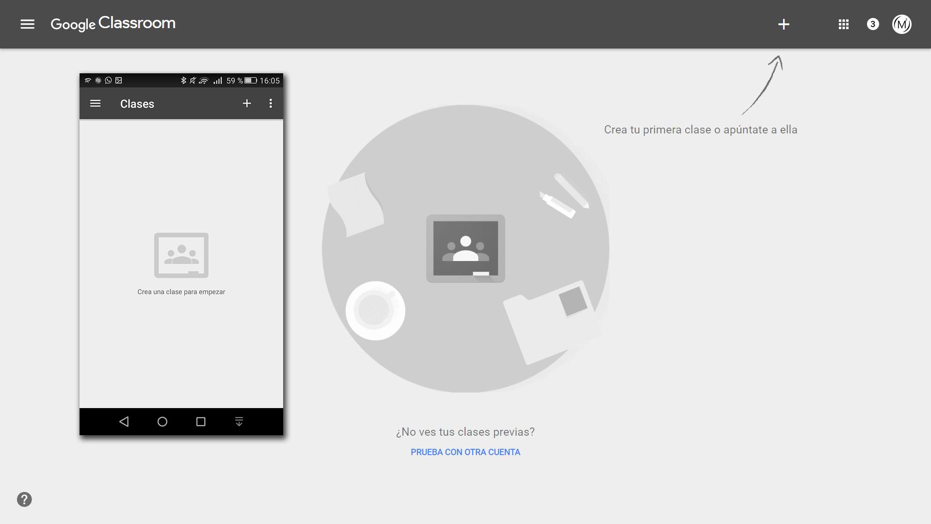 google classroom inicio