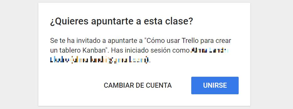 invitacion google class