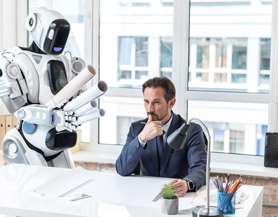 robot asistencia oficina oriente miedo tecnologia androide ciborg