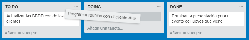 to do doing done trello arrastrar tareas hechas