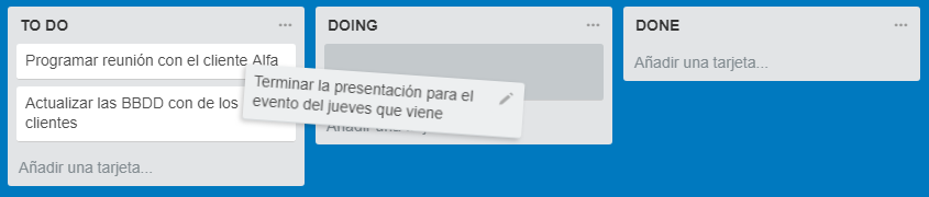 to do doing done trello arrastrar tarjeta
