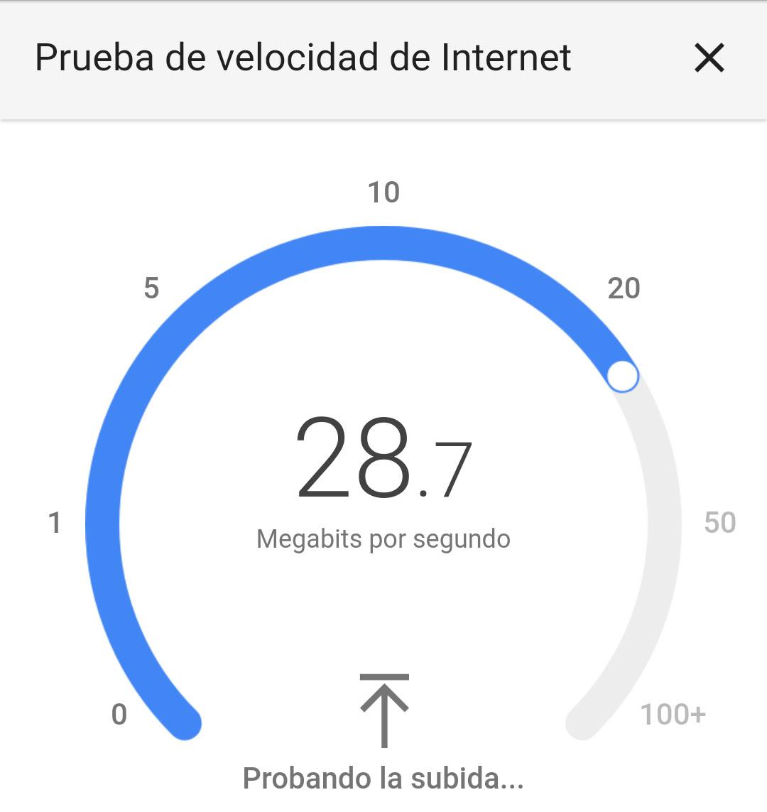 Test de velocidad Google