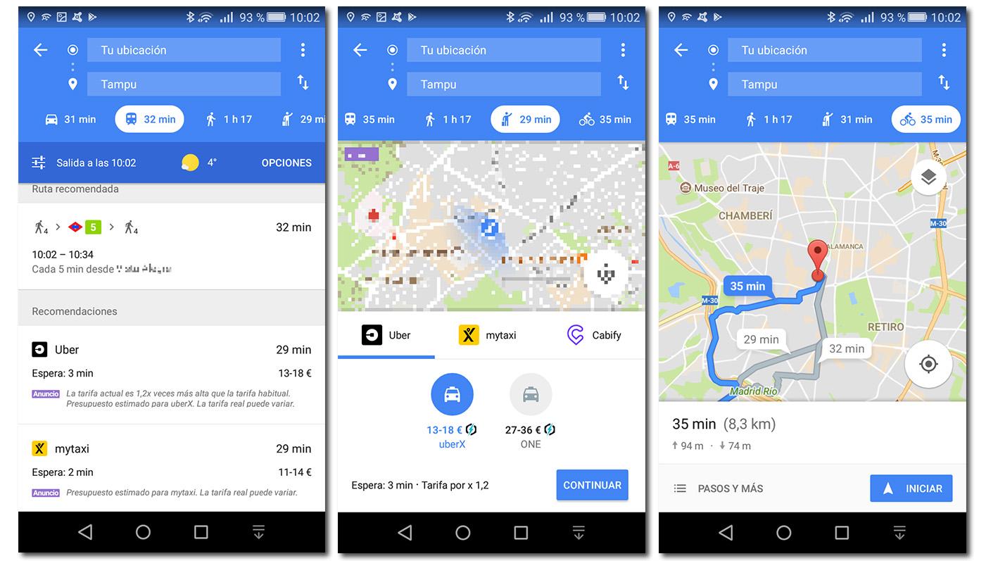 google maps movilidad