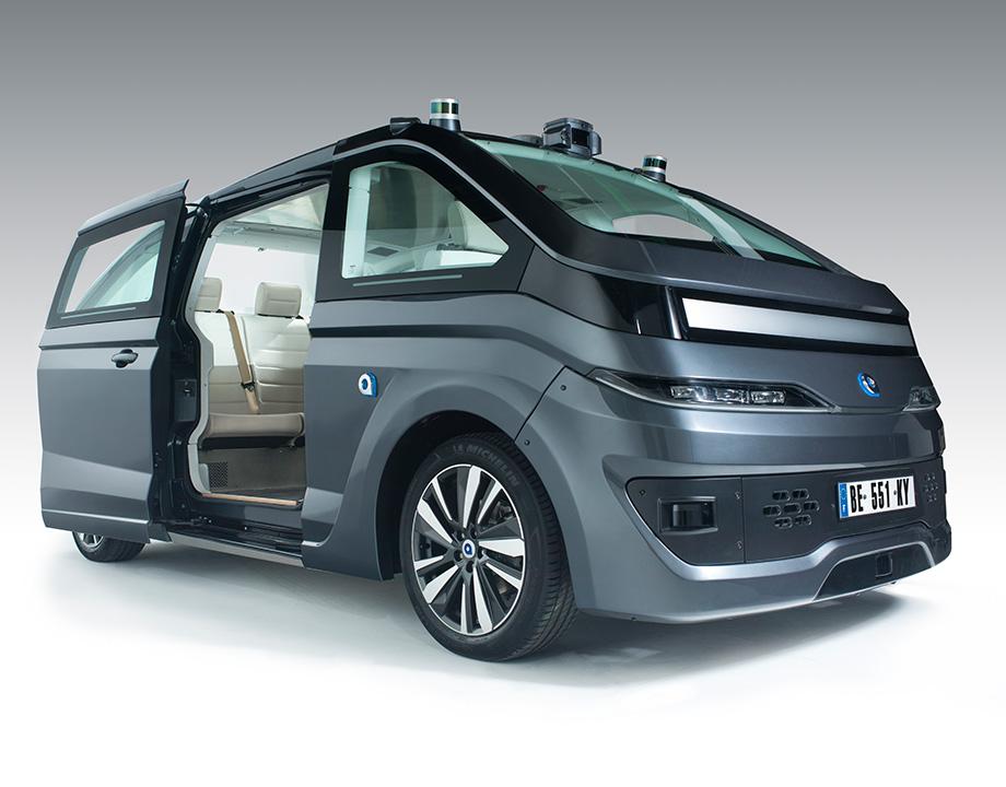 navya robot taxi vehiculo autonomo carsharing