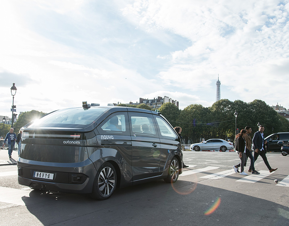 paris navya movilidad robot taxi carsharing