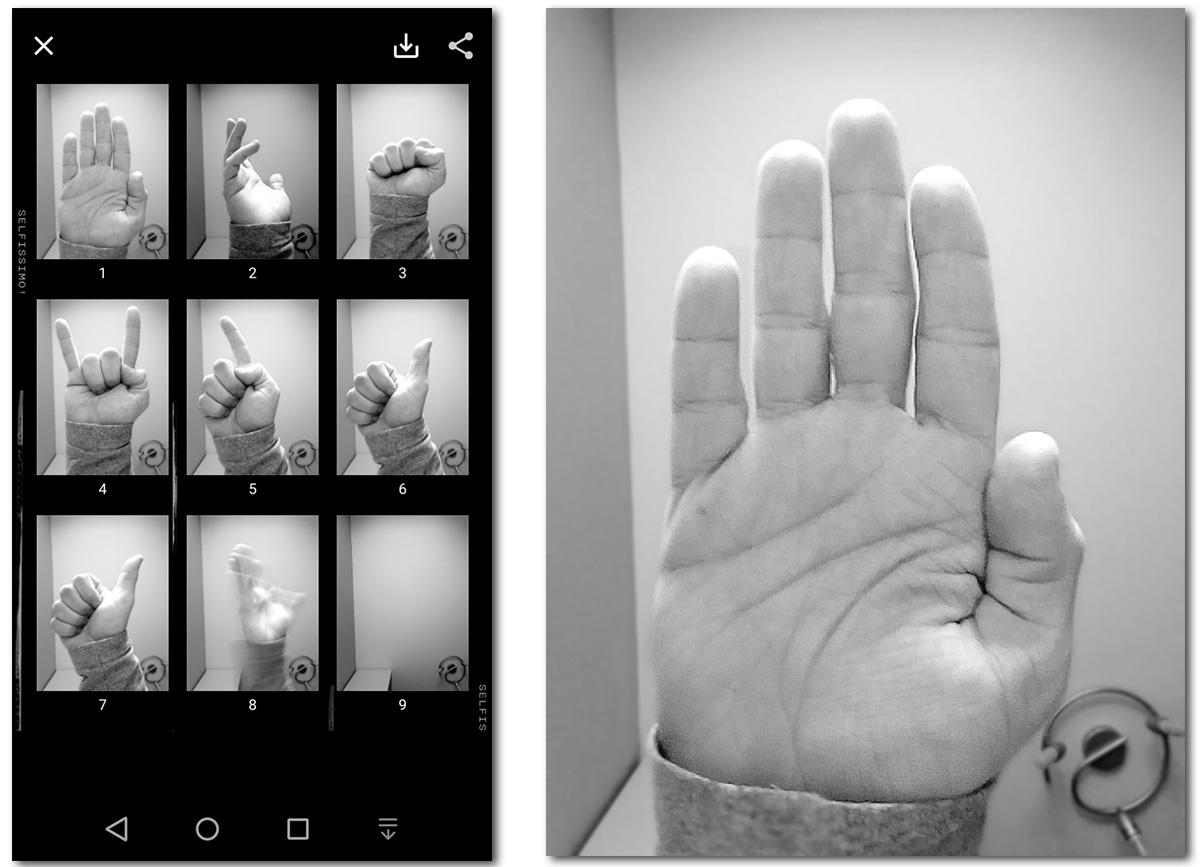 selfissimo galeria y manos