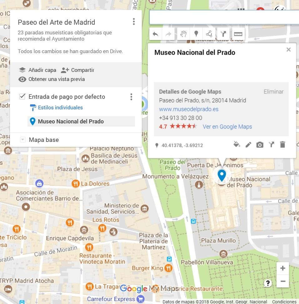 Mapas Google Maps Buscar Museo del Prado Integrado