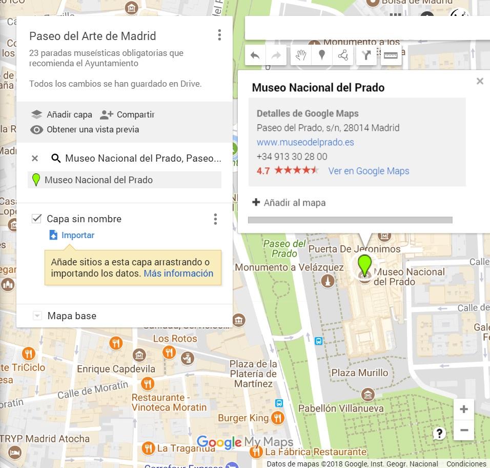 Mapas Google Maps Buscar Museo del Prado