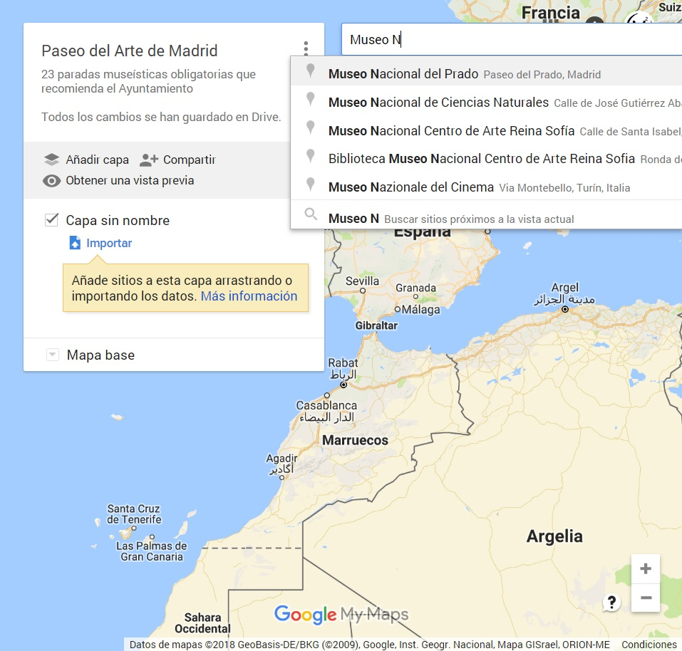 Mapas Google Maps Buscar nuevo punto