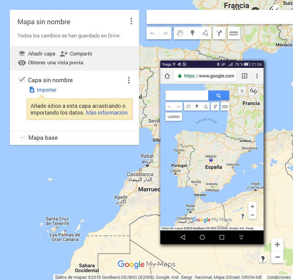 Mapas Google Maps Nuevo mapa sin nombre