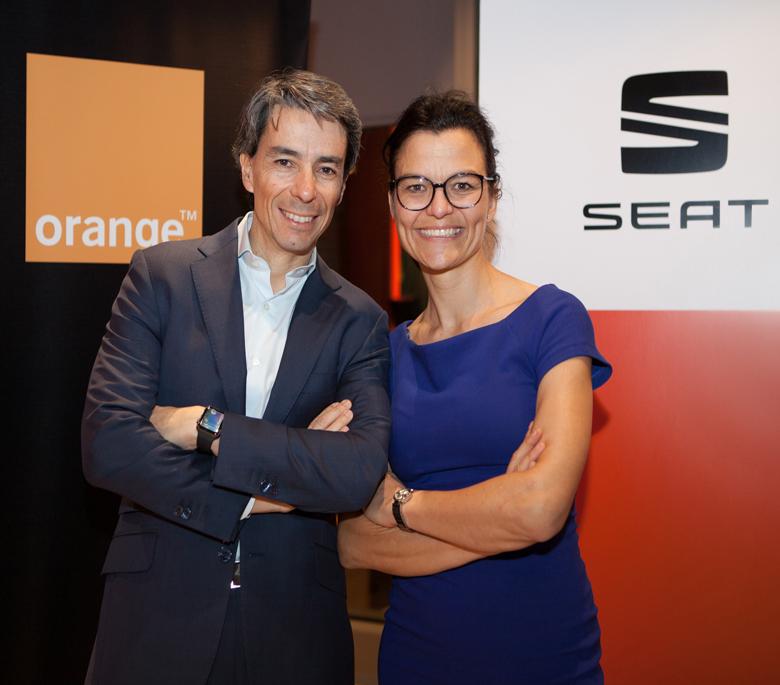coche conectado Orange y Seat