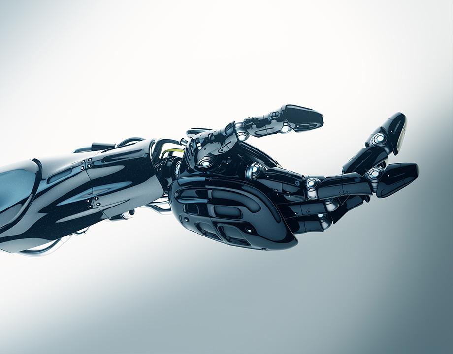 mano de robot futuro
