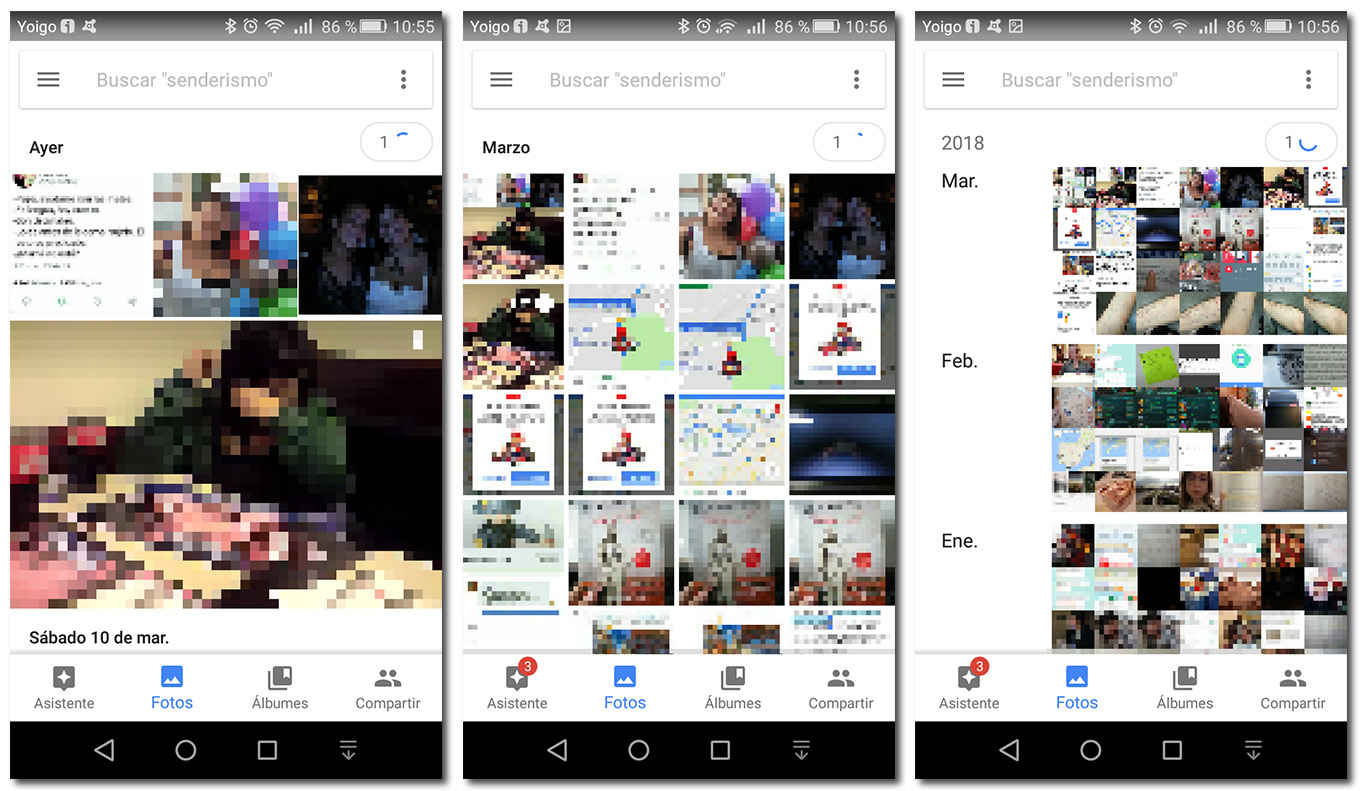Google Photos Fotos visualizacion