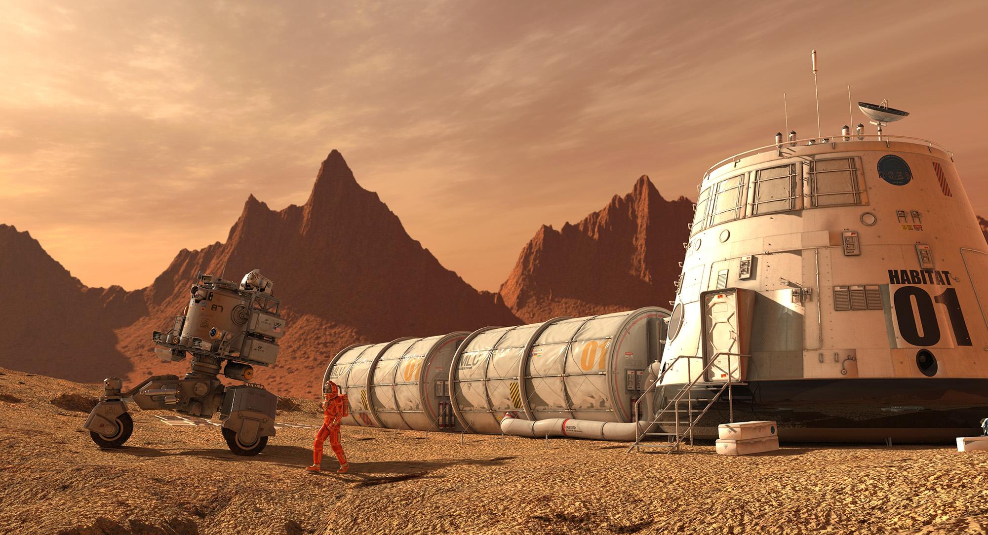 Las viviendas marcianas serán mucho más complicadas