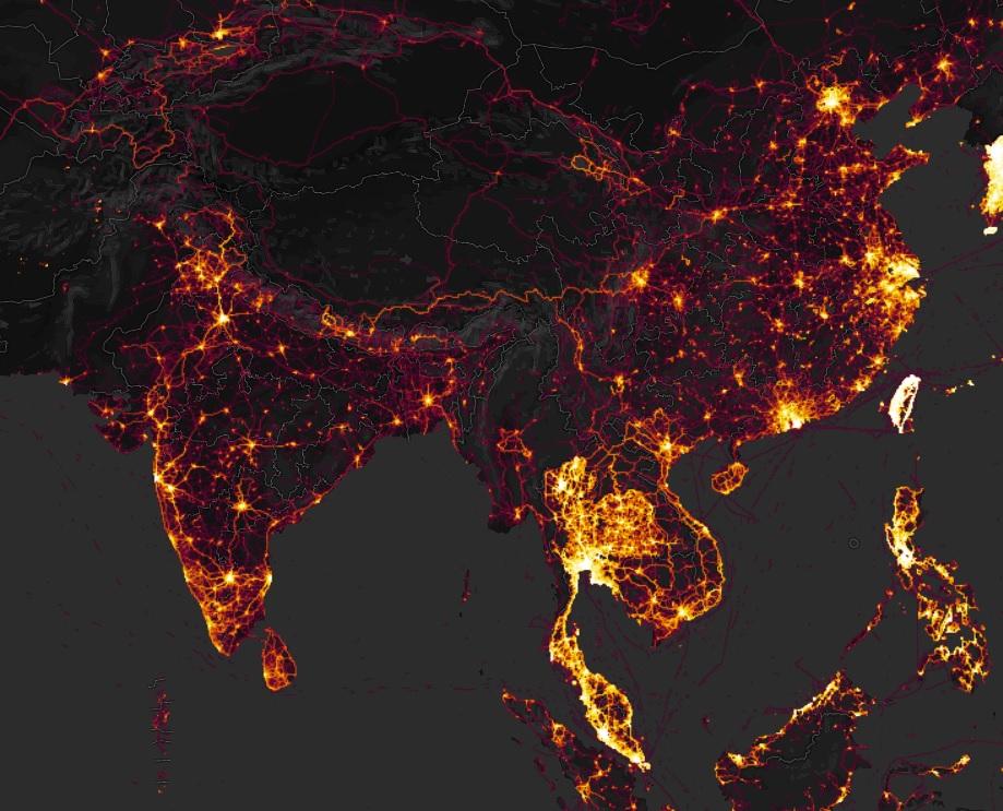 donde estan los chinos GPS