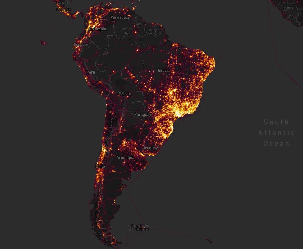 sudamerica silencio GPS