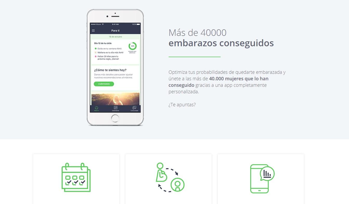 WOOM es una app que ayuda a quedarse embarazada