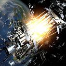 explosión de un satélite