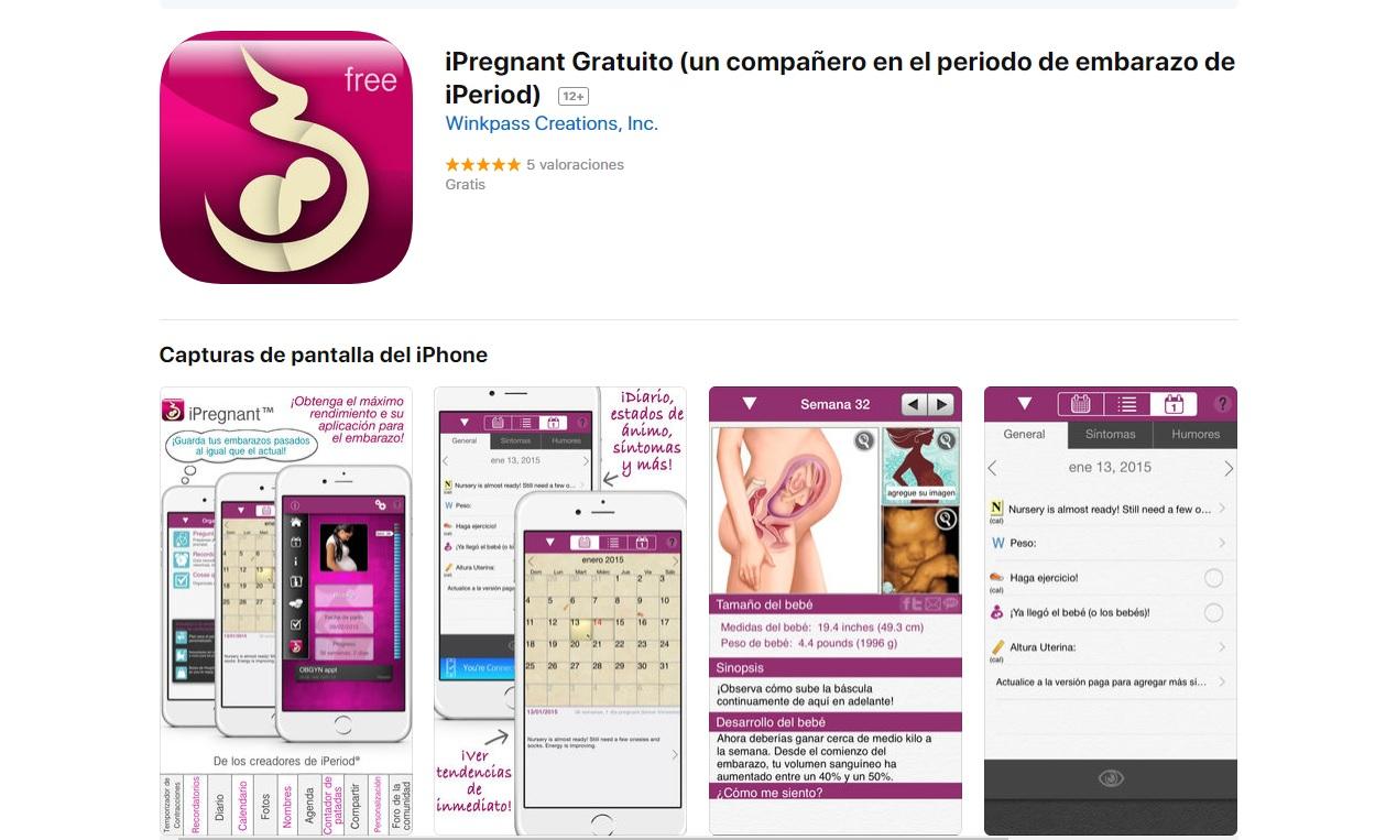 La aplicación iPregnant para seguir tu embarazo