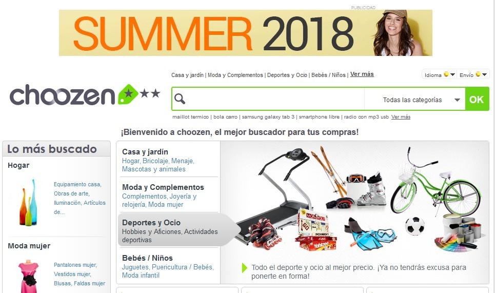 Choozen es un comparador de precios con ofertas de verano