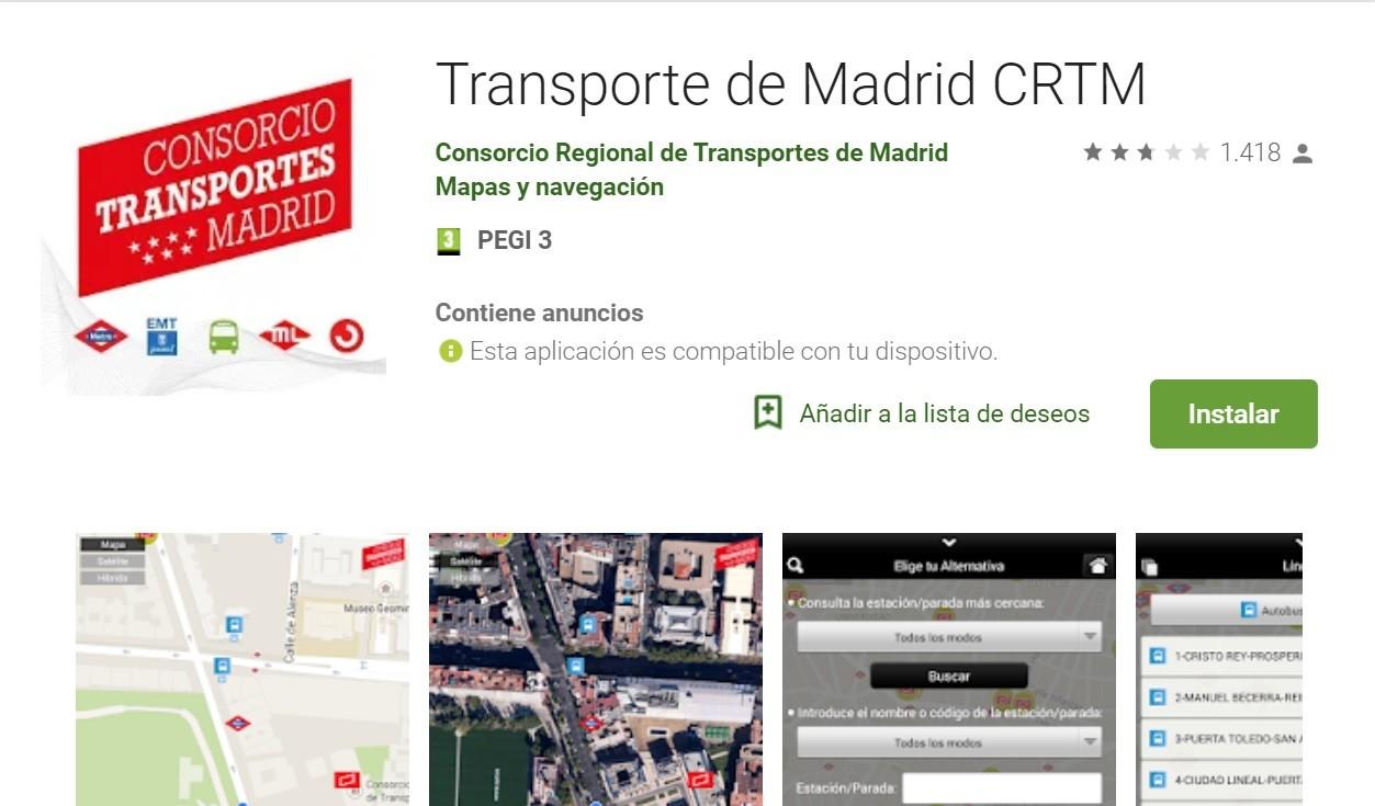 CRTM se ocupa del transporte público madrileño