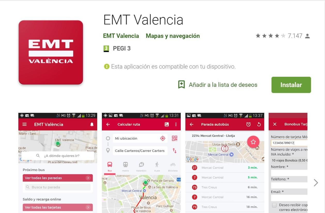 La app del transporte valenciano