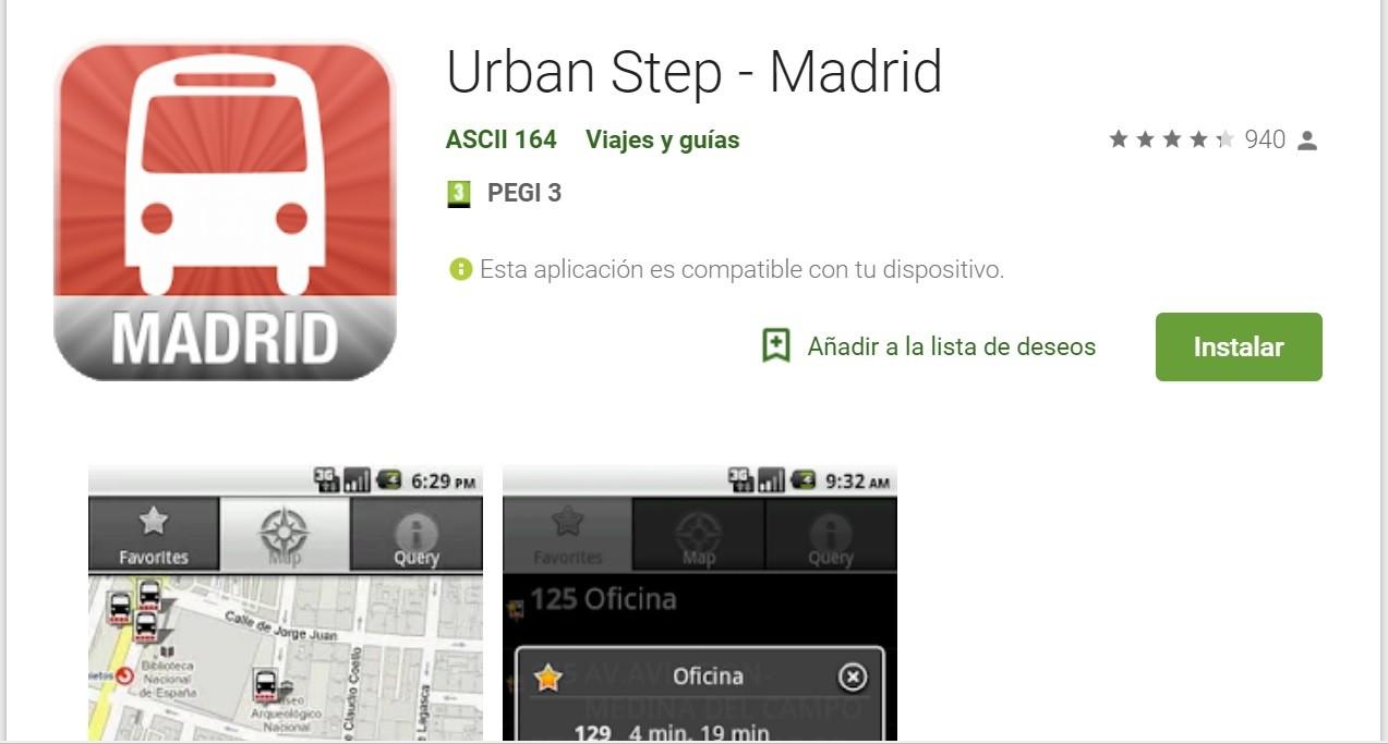Urban Step tiene diferentes versiones para cada ciudad