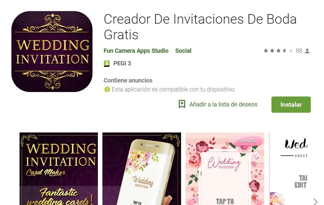 App para crear invitaciones de boda