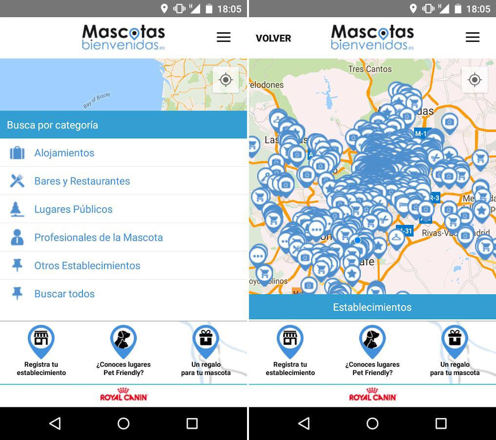 App Mascostas bienvenidas