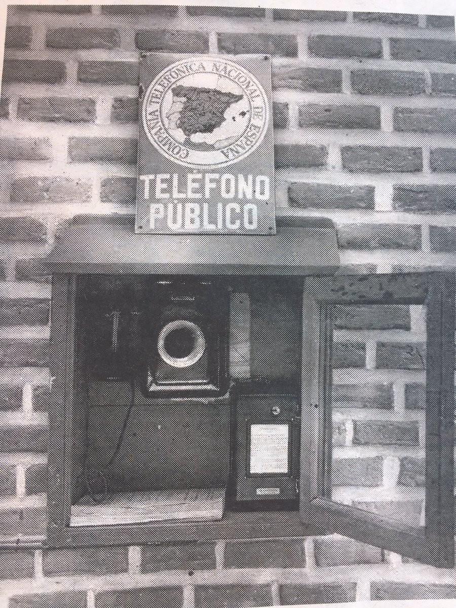 Primera cabina instalada en España, en la sala de fiestas Florida Park, en El Retiro madrileño.