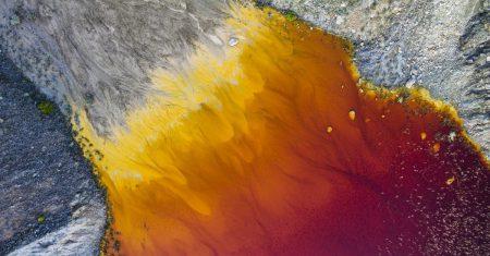 DRONES.Lago rojo, La Unión, Región de Murcia