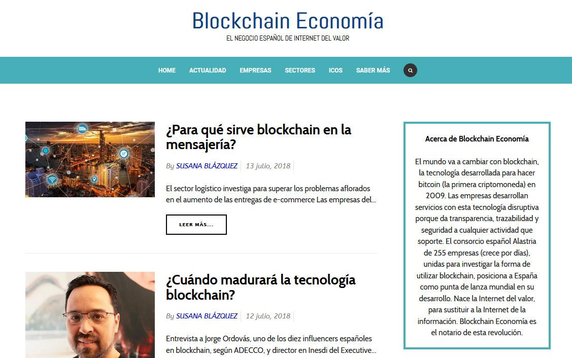 Blockchain economía