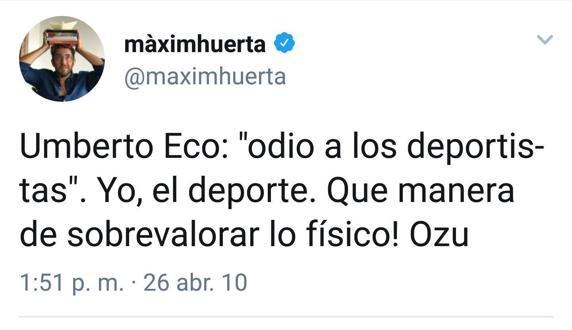 Màxim Huerta, un famoso que ha dejado Twitter