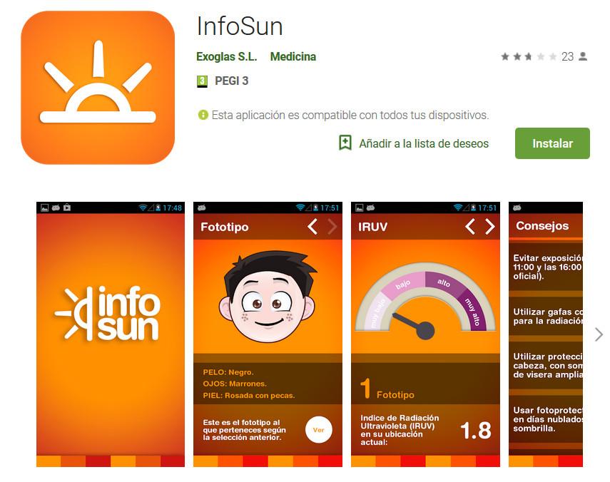 Infosun. radiación solar