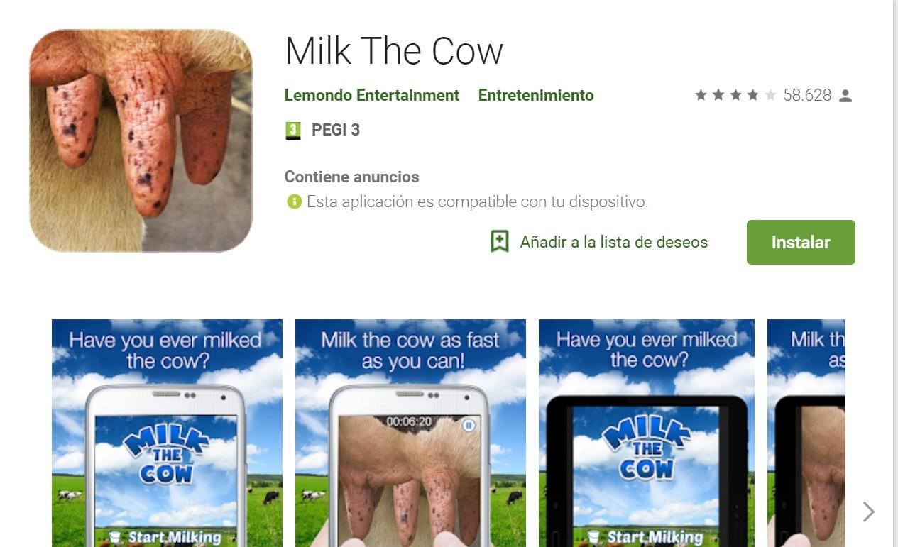 Ordeñando vacas virtuales