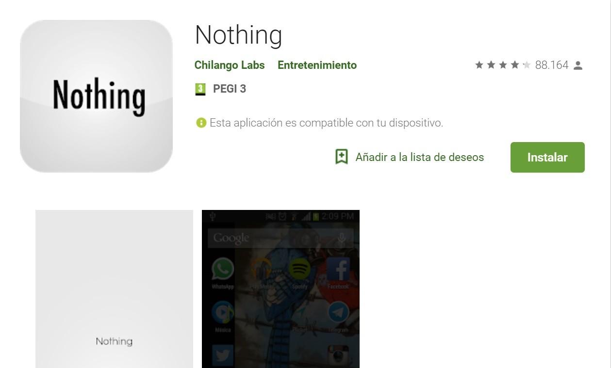 Una app que no hace nada