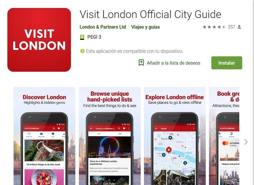 Apps turísticas para visitar Londres