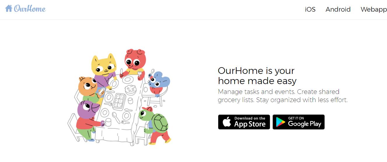 Ourhome, aplicación para organzarte
