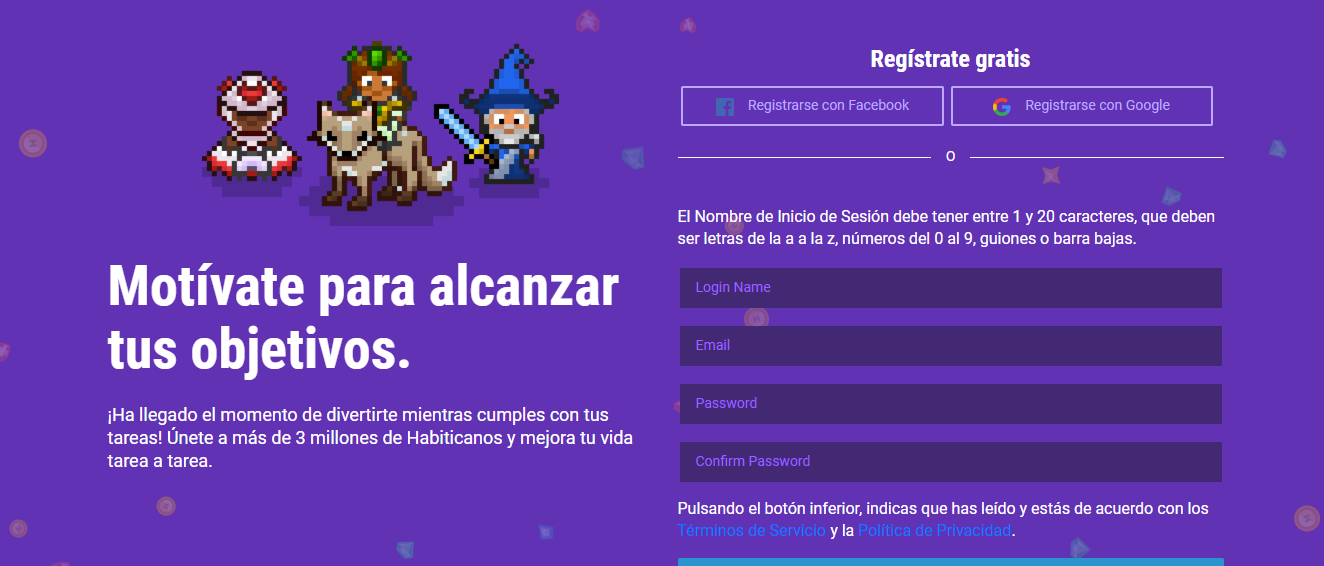 apps para organizarte: HABITICA: GAMIFY YOUR TASKS