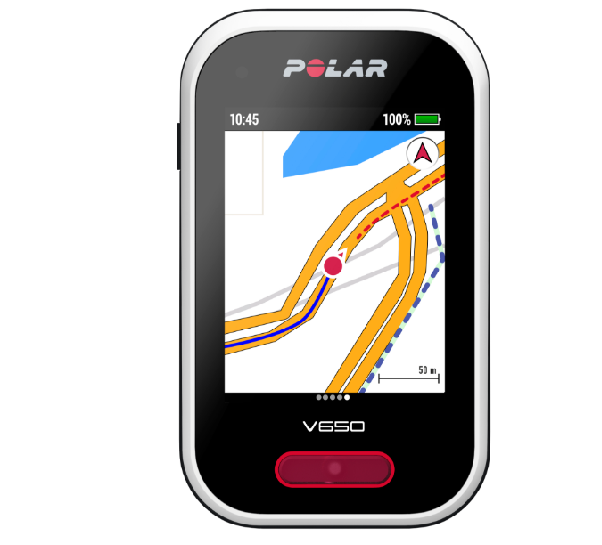 computador con GPS para bicicleta. Polar V650 (