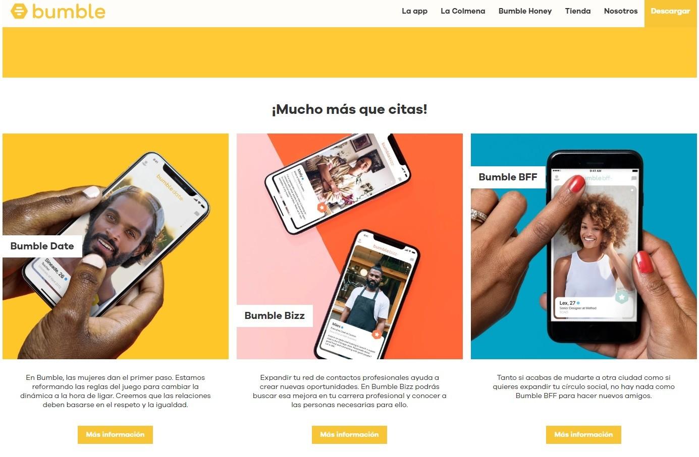 Bumble, una app de citas en las que la mujeres mandan