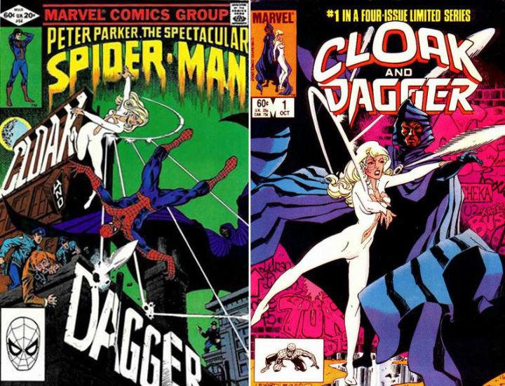 Capa y puñal en el comic de Spiderman