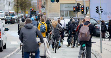 uso de la bicicleta en Dinamarca