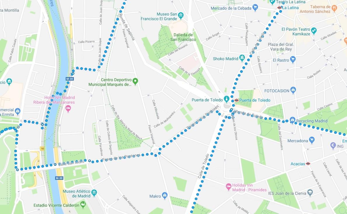 google maps ruta cronologia