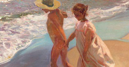 Mediterráneo. Joaquín Sorolla Al agua, 1908.